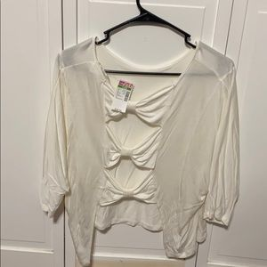 White crop top size large!